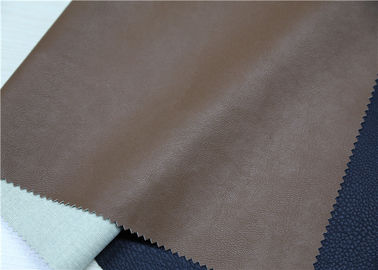 Cina Embossed Brown Faux Leather Fabric, Faux Leatherette Fabric Abrasion Resistant pemasok