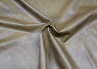 Cina Brown Twotone PVC Synthetic Leather Durable 300 Gsm Normal Peeling Strength pemasok