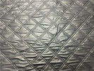 Cina Gumpalan Pakaian 1.2mm Quilted Bonded Leather Fabric Dengan Polyester Cotton Surface Warna Silver pabrik